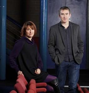 WYP's chief executive Sheena Wrigley and artistic director James Brining