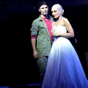 Marti Pellow and Madalena Alberto in Evita at the  - credit Keith Pattison