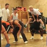 Hi-jinks in rehearsal