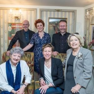 SSSSPOTY2016 Back row - Edward Seckerson, Sophie-Louise Dann, Mark Warman (Musical director) Front row - Julia McKenzie, Thea Sharrock, Anne Reid MBE