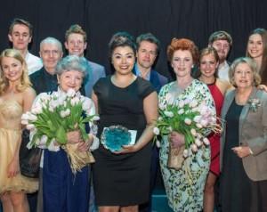 SSSSPOTY2016 performer of the year finalists with Edward Seckerson, Julian Ovenden & Anne Reid. Front row - Julia McKenzie, Courtney Bowman (winner) & Sophie-Louise Dann