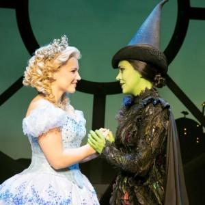 Wicked London_Suzie Mathers (Glinda) and Rachel Tucker (Elphaba)_Photo by Matt Crocket_9474