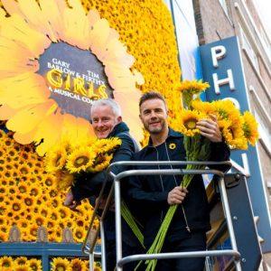 Tim Firth & Gary Barlow at the Phoenix Theatre, credit Matt Crockett