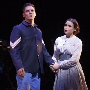 Ryan Silverman Mikaela Bennett in the Encores! production of Golden Apple
