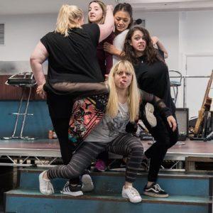 Our Ladies of Perpetual Succour. Caroline Deyga (Chell), Kirsty MacLaren (Manda), Frances Mayli McCann (Kylah), Isis Hainsworth (Orla) Dawn Sievewright (Fionnula) Photo Credit Manuel Harlan